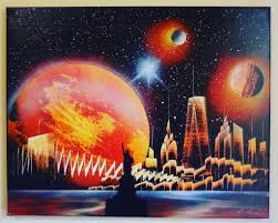 Spray Paint Universe Statue Of Liberty Red Spray Paint Art At Www All Art4sale Us 20 00