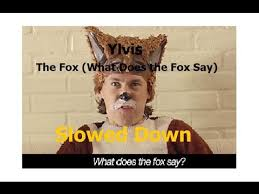 What Does The Fox Say Meme - ylvis the fox what does the fox say slowed down youtube