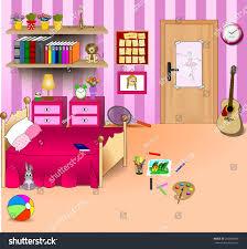 kid bedroom vector art image illustration stock vector 250848049