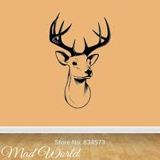 online get cheap stag wall stickers aliexpress com alibaba group mad world stags head deer silhouette wall art stickers decal home diy decoration wall mural removable room decor wall stickers