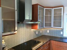 Cabinets  Drawer L Shaped Kitchen Frosted Glass Kitchen Cabinet - Stainless steel cabinet door frames