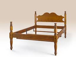 Handcrafted Wood Bedroom Furniture - size colonial bed frame tiger maple wood bedroom furniture
