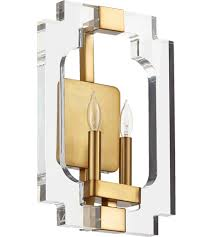 Quorum Wall Sconce Quorum 555 2 80 Broadway 2 Light 11 Inch Aged Brass Wall Sconce