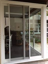 French Patio Doors With Screen by Interior Sliding French Door In White With Silver Metal Knob Patio