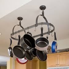 lighted hanging pot racks kitchen kitchen accessories traditional black hanging pot rackaged wooden