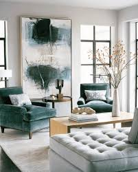 teal livingroom abstract expressionist painting in living room with beautiful teal