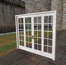 Folding Doors Patio Second Life Marketplace 4 Panel White French Bifold Door Bi