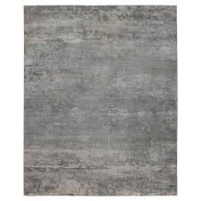Modern Silk Rugs Exquisite Rugs Koda Modern Classic Abstract Overcast Grey Bamboo