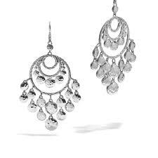 chandelier earring dot disc chandelier earrings
