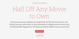 deal alert score a movie rental for 0 99 and take 50 percent off