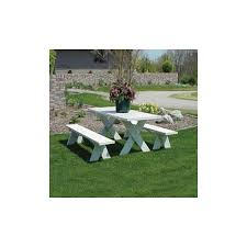 dura trel picnic table with benches walmart com