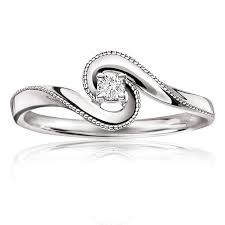 promise ring embrace promise ring in 10k white gold
