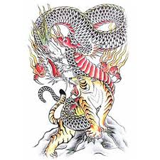 42 best 3d tattoos dragon vs tiger images on pinterest dragons
