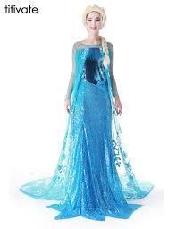 aliexpress com buy titivate princess anna elsa queen girls party