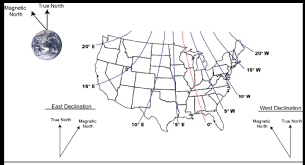 magnetic declination map the solar advocate magnetic declination solar energy information