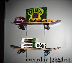 skateboard rasta stool interior boys skate style bedroom office