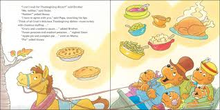 kids books about thanksgiving amazon com the berenstain bears thanksgiving blessings