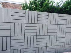 ikea runnen floor decking tiles work great as a wall fence ikea