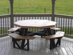 octagon picnic table polywood dutch haus custom furniture