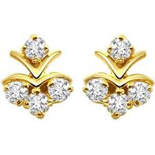diamond earrings with price surat diamond gold diamond earrings s 279 gold earrings