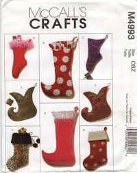 mccall u0027s 4993 christmas stockings stockings sewing patterns and