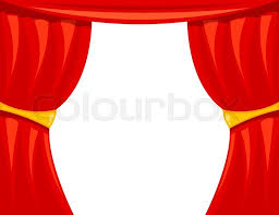 Curtains On A Stage Cartoon Theater With Microphone Theater Open Curtain Open
