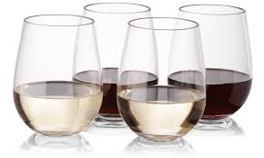 notmog 16 stemless wine glasses office set unbreakable reusable