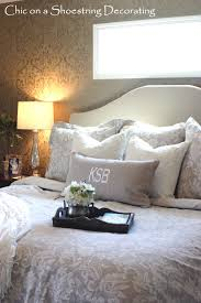 Small Master Bedroom Dimensions Chic On A Shoestring Decorating How To Make An Upholstered Headboard