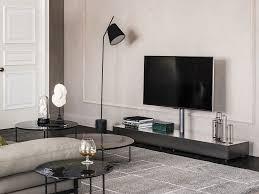 tv lowboard design low walnut tv cabinet link by cattelan italia design paolo cattelan