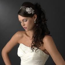 wedding hair with headband vintage flower bridal headband bridal hair accessories