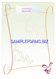 easter bunny letter template u0026 samples forms
