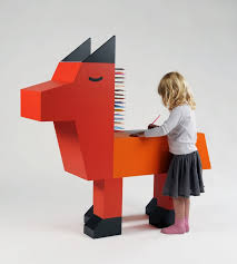 kids animal table and chairs kids room animal shaped orange wood kids drawing table wolf shaped