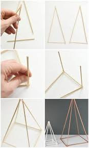 How To Make Home Decoration How To Make Gold Diy Geometric Sculptures For Free Hometalk