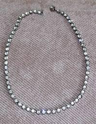 necklace rhinestone images Vintage clear rhinestone necklace jpg