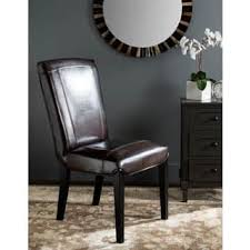 High Back Brown Leather Dining Chairs High Back Leather Dining Room U0026 Kitchen Chairs Shop The Best