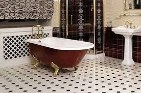 Black  White Tiles Walls And Floors - Floor bathroom tiles 2