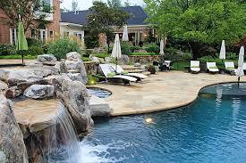 Patio And Pool Designs Jacuzzi Spas Stone Patios Construction And Design Company North Va