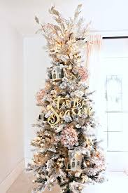 flocked christmas tree how to trim out your flocked christmas tree with pink accents