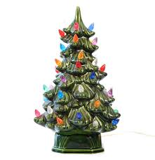 vintage holland mold ceramic lighted christmas tree ebth