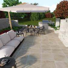sandset porcelain patio stones easy to install for a stylish