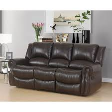 3 2 Leather Sofa Deals Abbyson Living 3 Pc Faux Leather Reclining Set Dark Brown