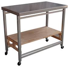 kitchen island cart with stainless steel top stainless steel kitchen island cart mission kitchen