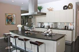 kitchen fabulous glossy backsplash and stylish kitchen island