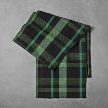 woven plaid table runner green black hearth u0026 hand with