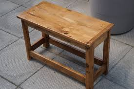 small wood small table made from reclaimed wood