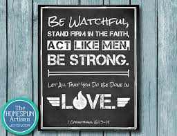 personalized christian gifts act like men scripture typography artwork personalized christian