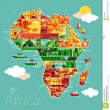 Maps Of Africa by Cartoon Map Of Africa Stock Vector Image 63416908