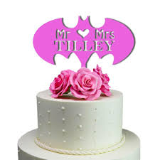 batman wedding cake toppers made in usa personalized cake toppers sugaryeti