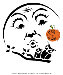 beautiful halloween moon and owls pumpkin stencil vintage fangirl