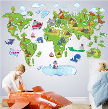removable wall stickers for kids all about colour world map wall stickers removable kids nursery baby room decor art mural